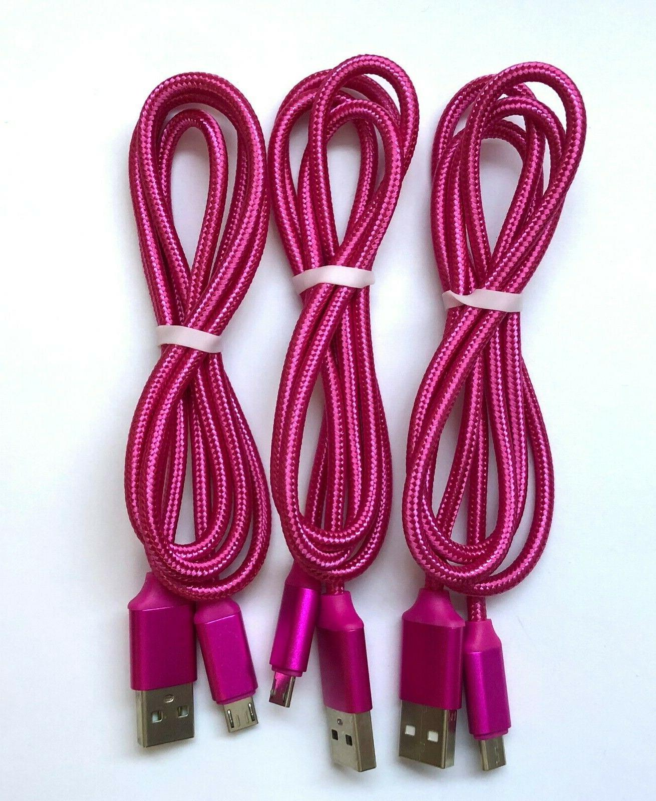 3x Pack Charger Cord Samsung Phone
