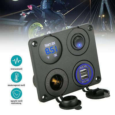 4 in 1 panel dual usb car