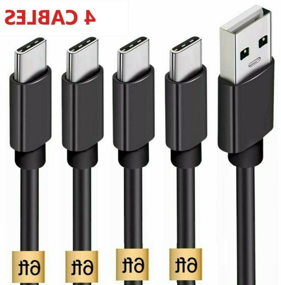 4 pack 6ft usb c cable type