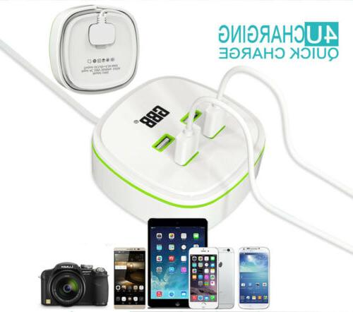 4 USB Ports Outlet Wall Charger Multi USB Adapter AC Power S