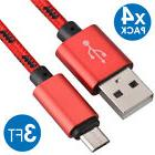 4x Micro USB Fast Charger Data Sync Cable Nylon Braided Cord