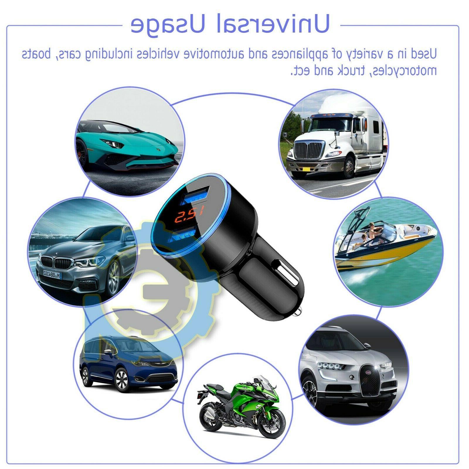3.1A USB Dual Ports Car Charger 12V/24V Digital