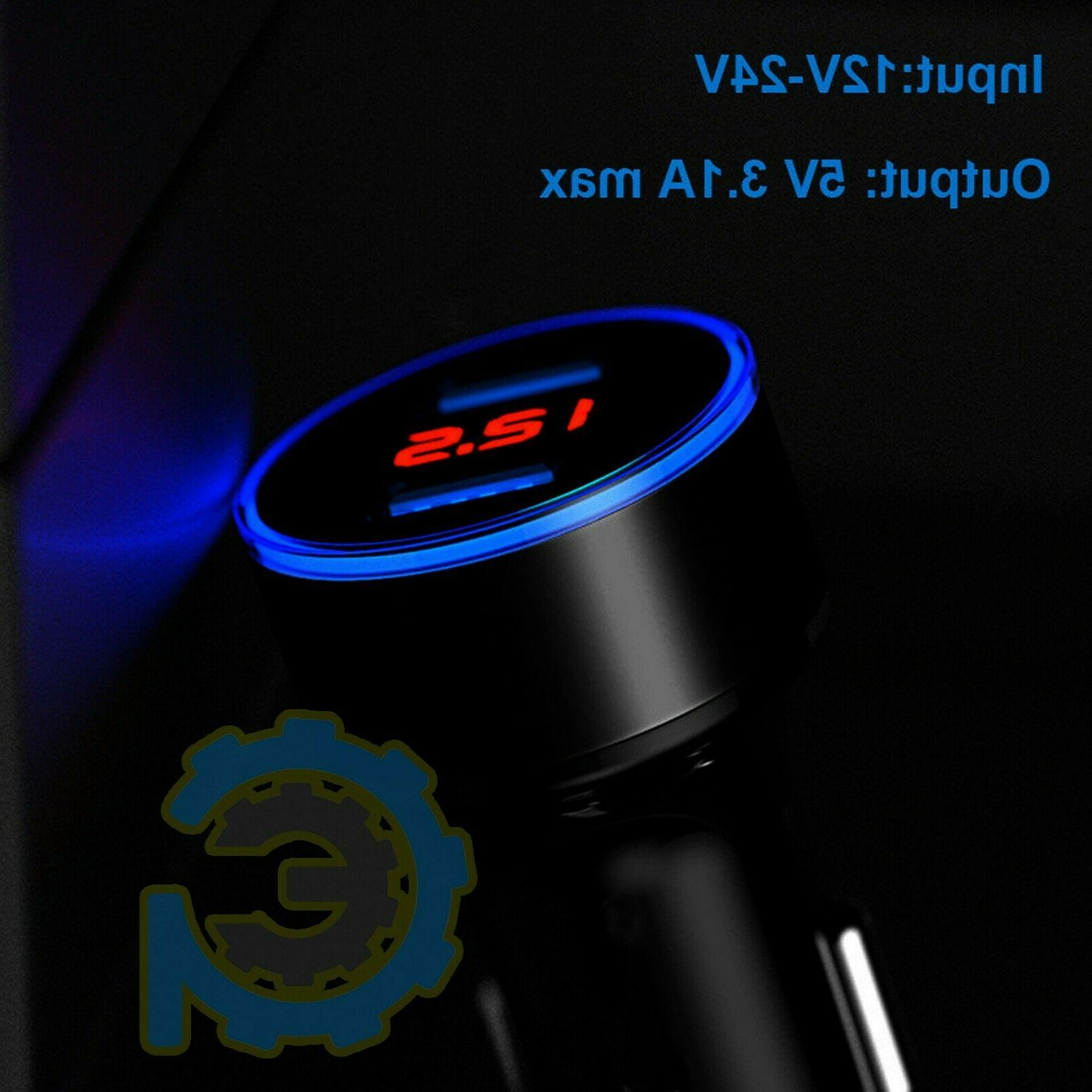3.1A USB Dual Car Cigarette 12V/24V Digital