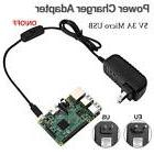 5V 3A Micro USB Power Supply Charger Adapter On/off Switch f