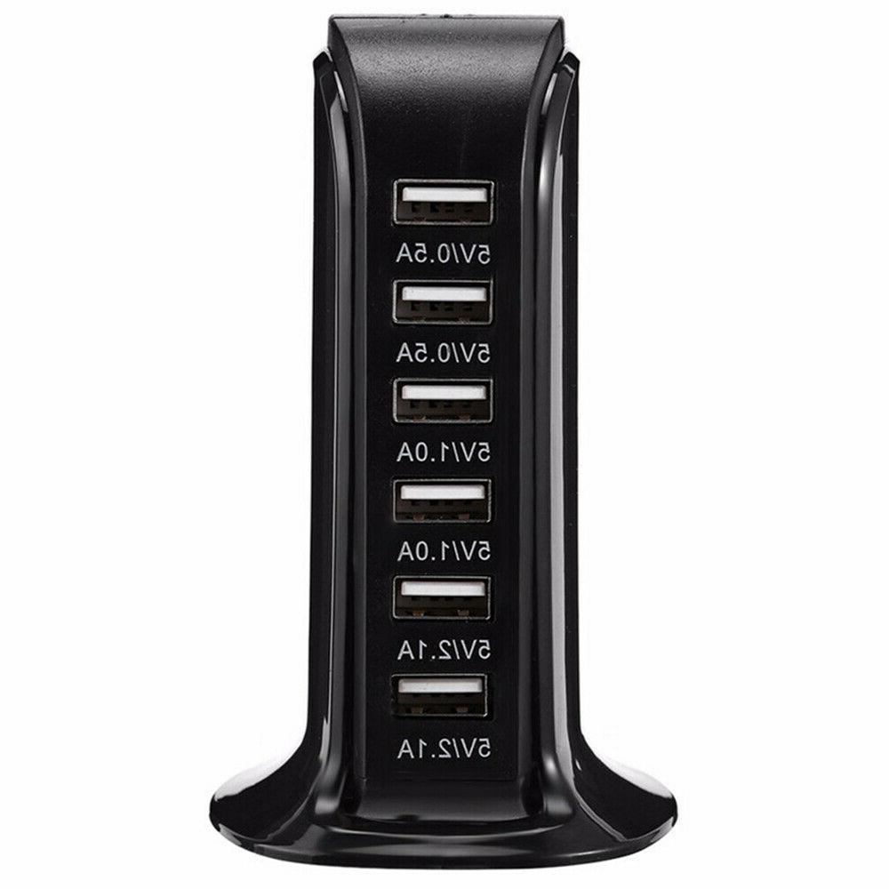 6 Port Charger Desktop Fast Station Power US