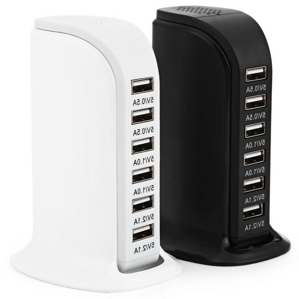 6 port charger usb desktop wall fast