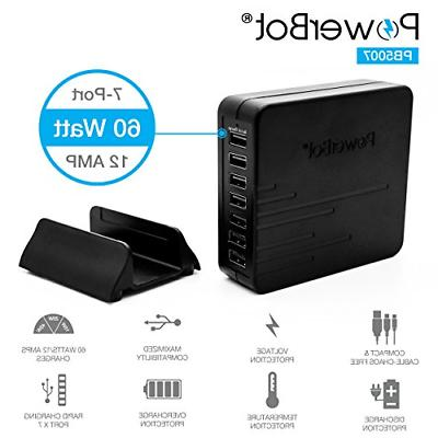 60w multi 7port usb charger 12a rapid