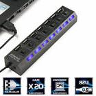 7-Port USB 2.0 Multi Charger Hub +High Speed Adapter ON/OFF