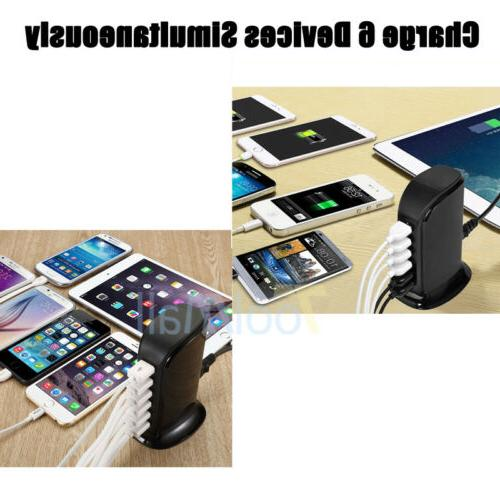 Multi Port Charger 6 Port Station Desktop Hub iPhone