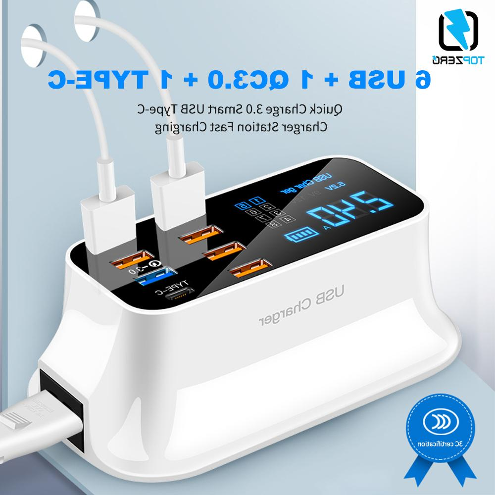 8 Quick Charge 3.0 <font><b>USB</b></font> <font><b>Charger</b></font> Adapter Phone Tablet <font><b>Charger</b></font> For samsung