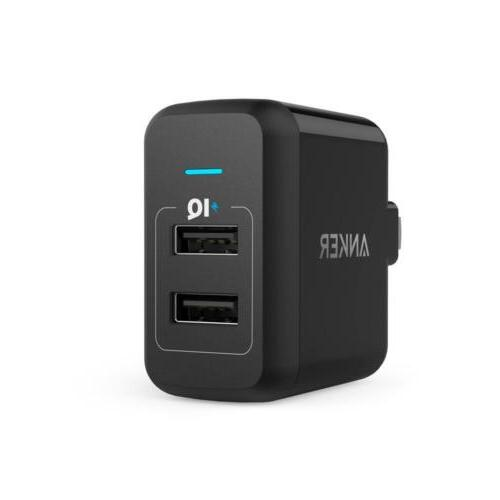 A2141112Anker USB Wall Charger PowerPort 2 24W with 2 Ports