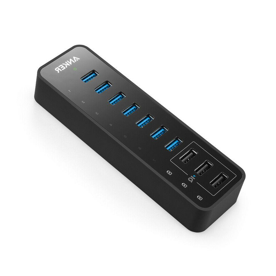 Anker 10 Port 60W Data Hub with 7 USB 3.0 Ports and 3 Power