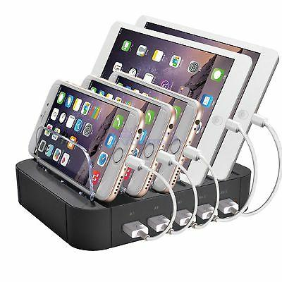 5-Port Multi USB Smart Charging Station Charger Stand For iP