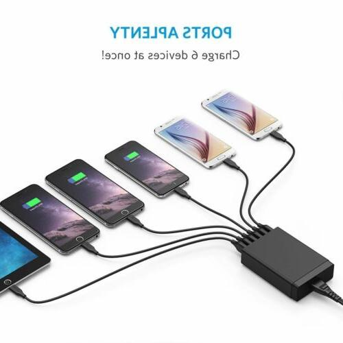 Home Wall Travel Charger Rapid Hub Power Multi Port US