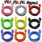 LOT Braided USB 3.0 Data Sync & Charger Cable Cord For SAMSU