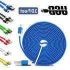 Lot 10 Ft Micro USB Charger Charging Cable Data Sync Cord fo