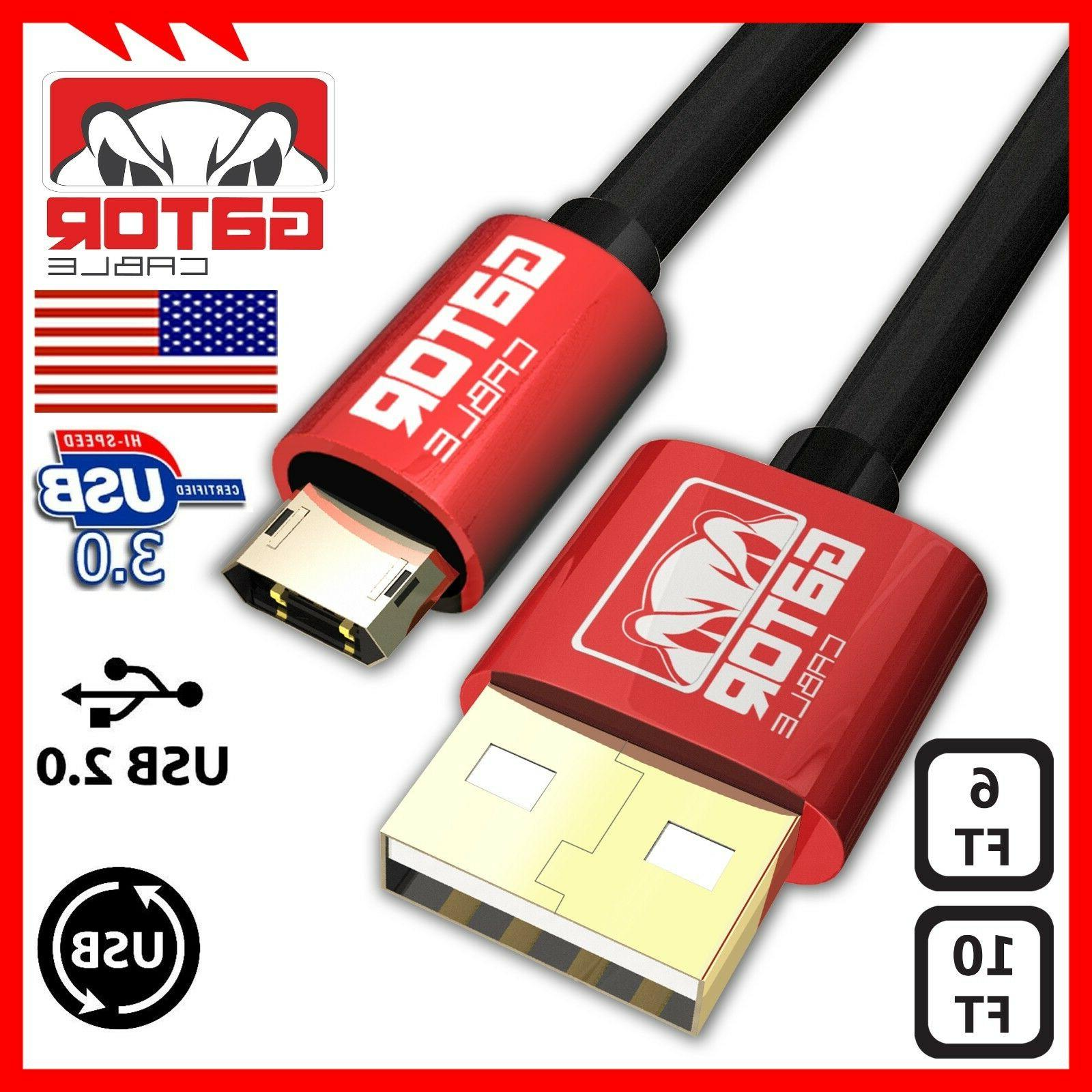 Reversible Micro USB 2.0 Cable Cord Charger Sync Data Samsun