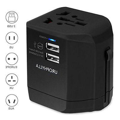 UROPHYLLA Universal 2.5A USB Wall Charger Power Travel Adapt