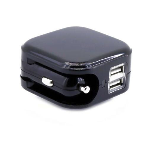 USB Charger for Car DC Cigarette Lighter Power Home Wall AC