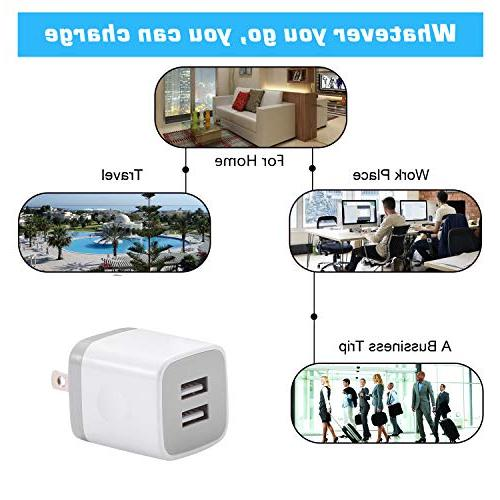 X-EDITION USB 2.1A Cube Cube for Plus/X, iPad, Samsung S5 S6 S7 ZTE, HTC,