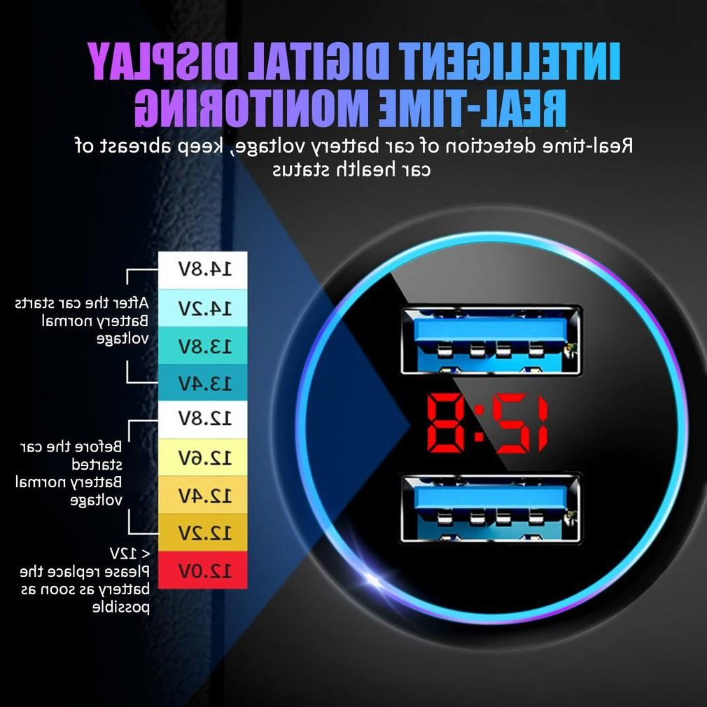 Auto Dual Digital With LED Display <font><b>Charger</b></font>