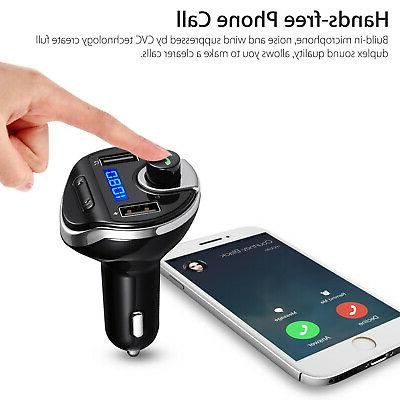 Wireless In-Car BT Transmitter MP3 Radio Car Fast USB Charger