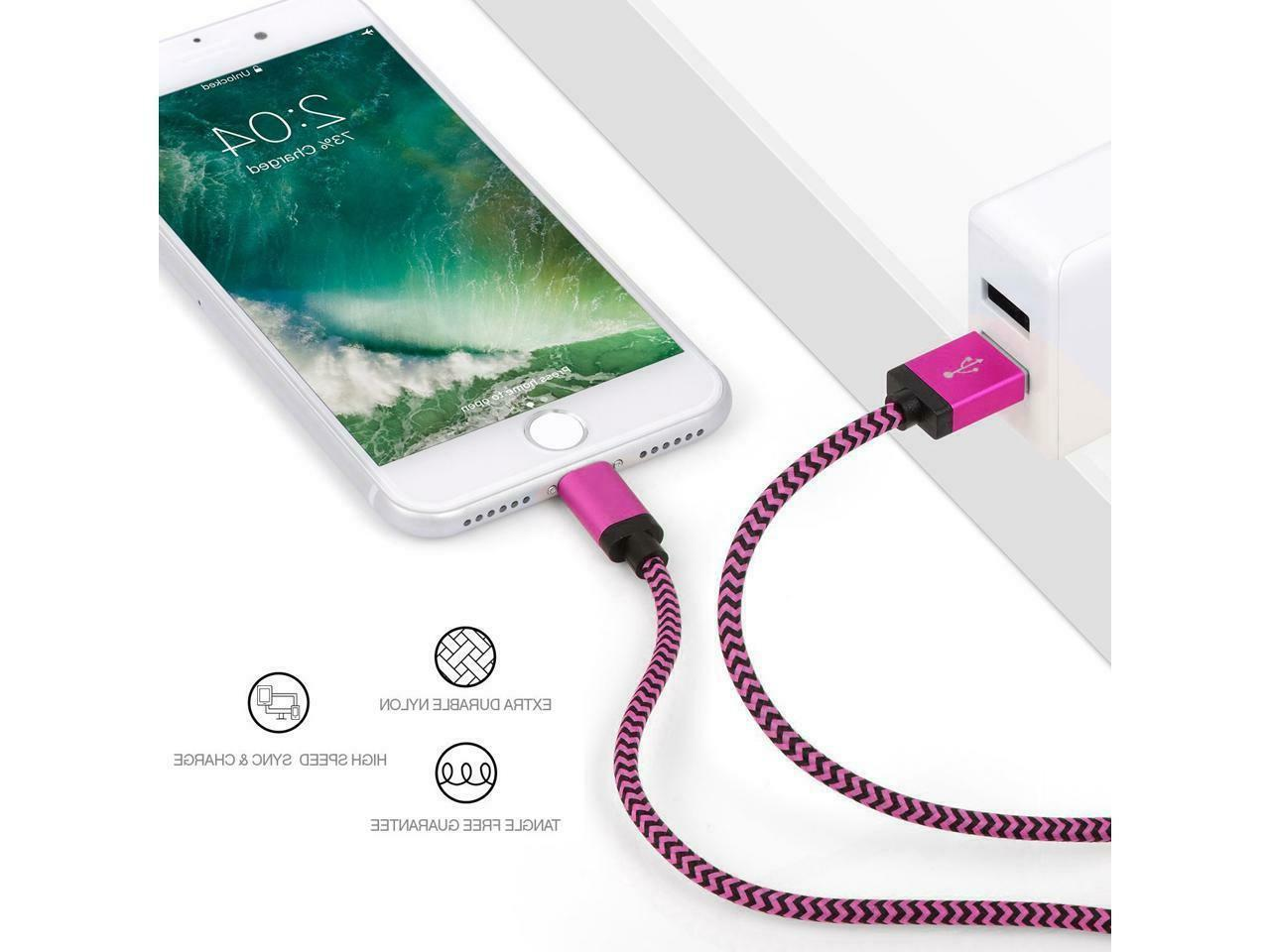 Braided Cable iPhone 7 8 Xs 10ft