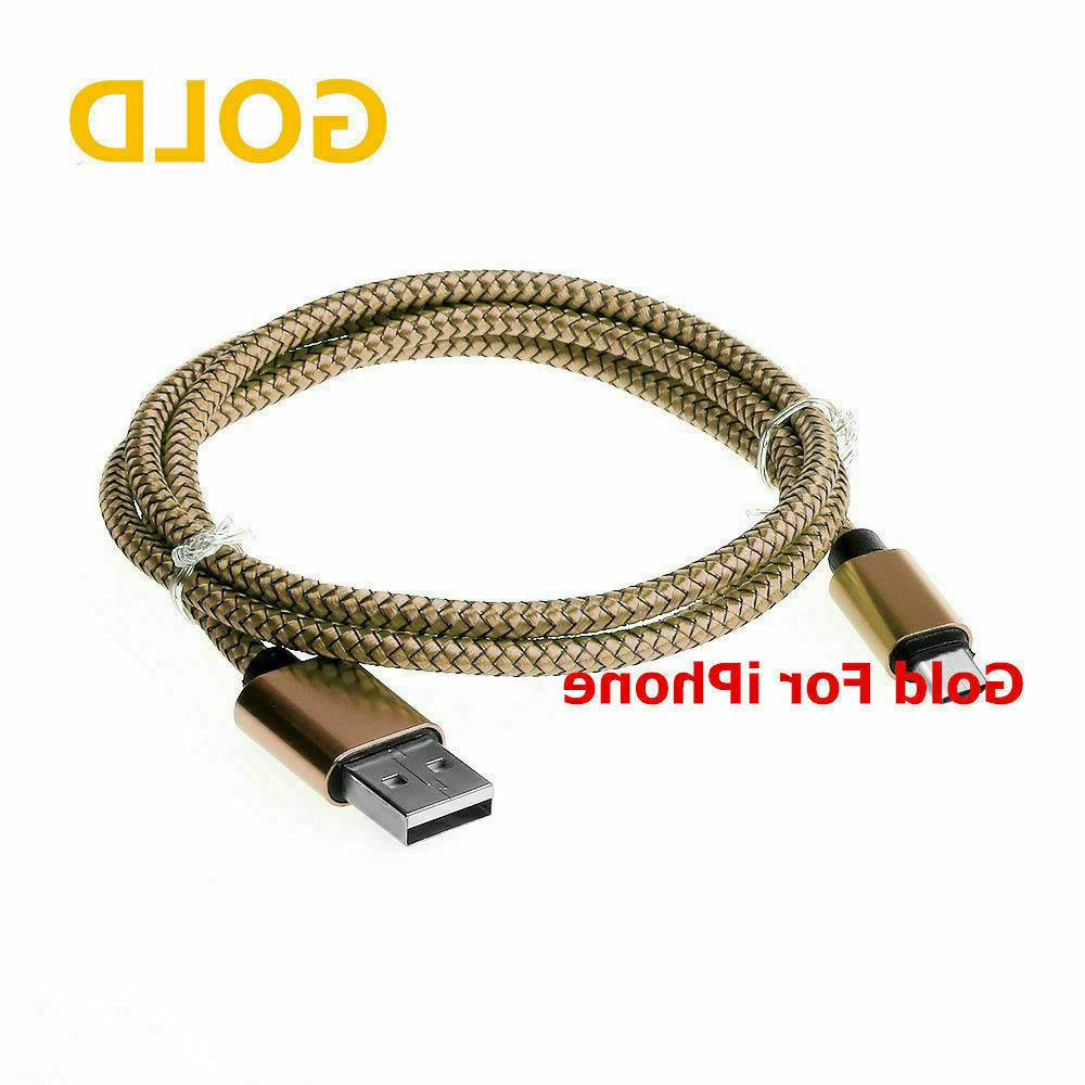 Braided USB Cable iPhone 7 8 XR Xs Max