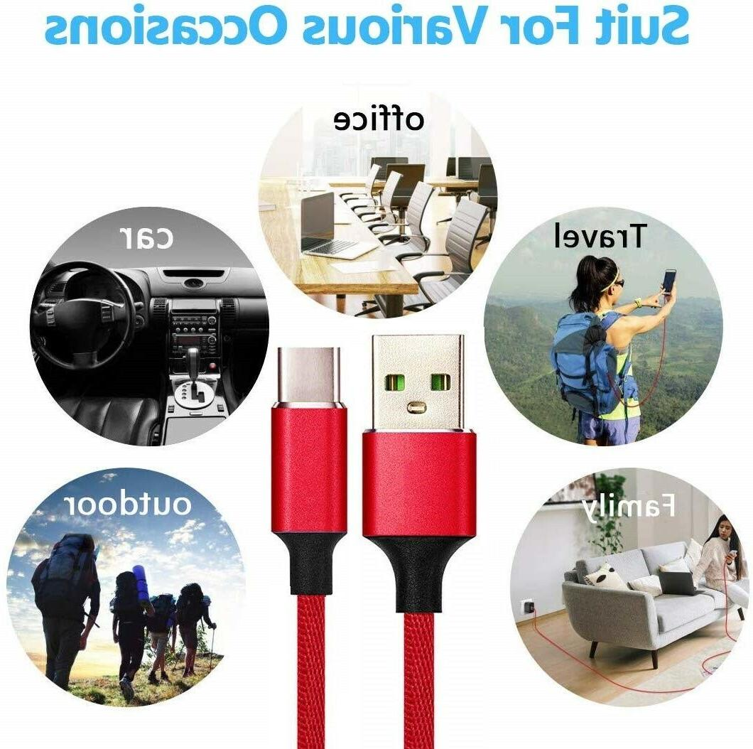 Braided Fast Charging Data SYNC Charger Cable LONG