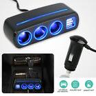 Car Charger Dual USB Port Splitter 12V-24V Socket Power Ciga