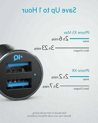Anker Car Charger Mini 24W USB Alloy Fit Adapter
