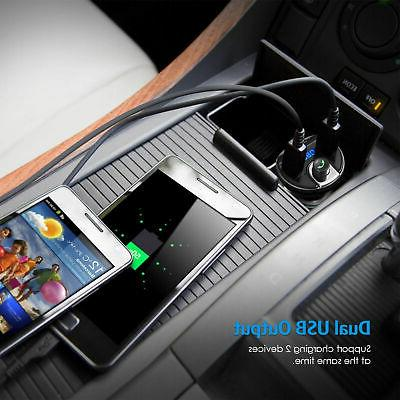 Wireless In-Car FM Transmitter MP3 Car USB Charger