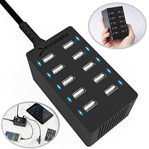 Sabrent 10-Port Smart Wall Charger