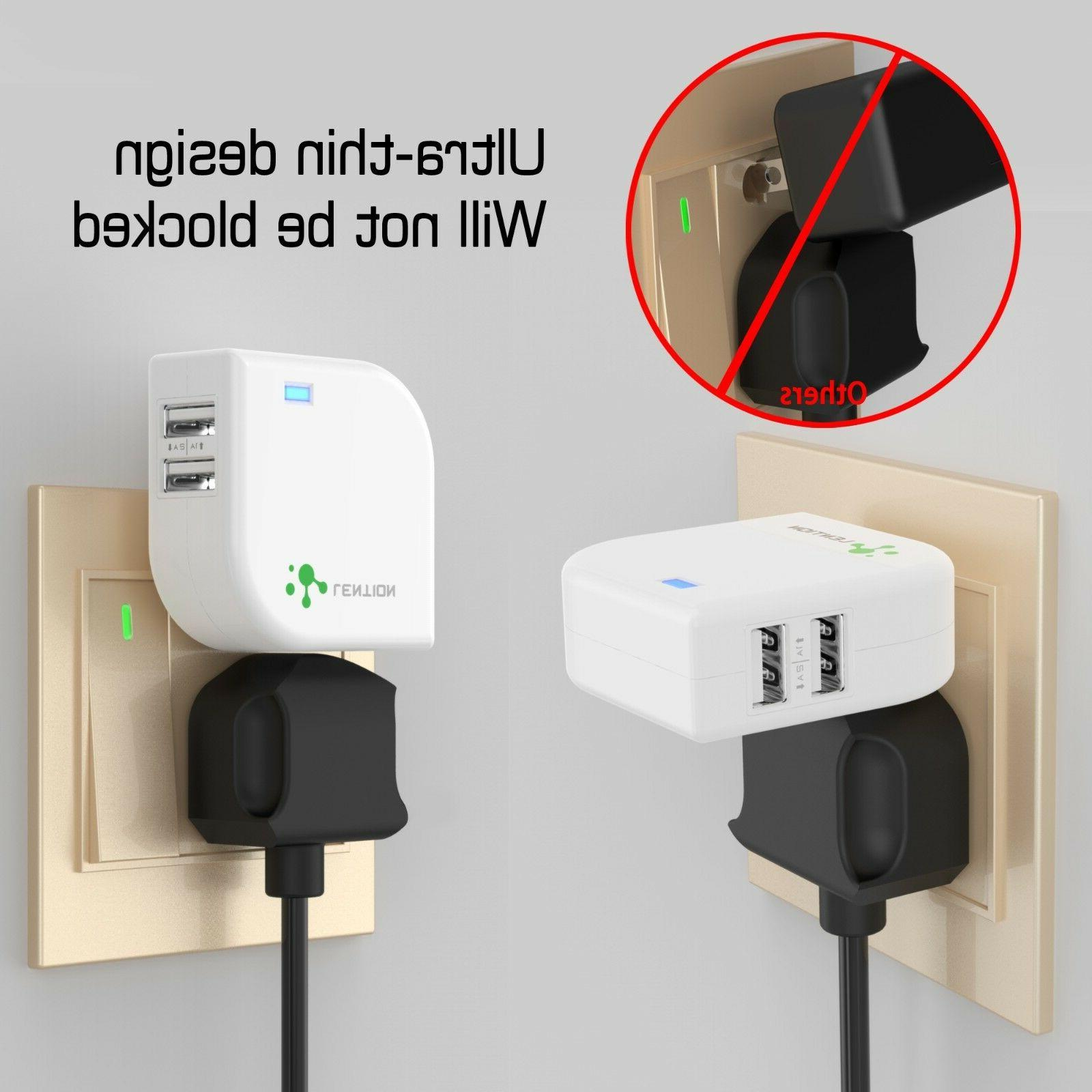 Dual USB Wall Charger Fast Travel Charger Plug for Samsung Galaxy HTC