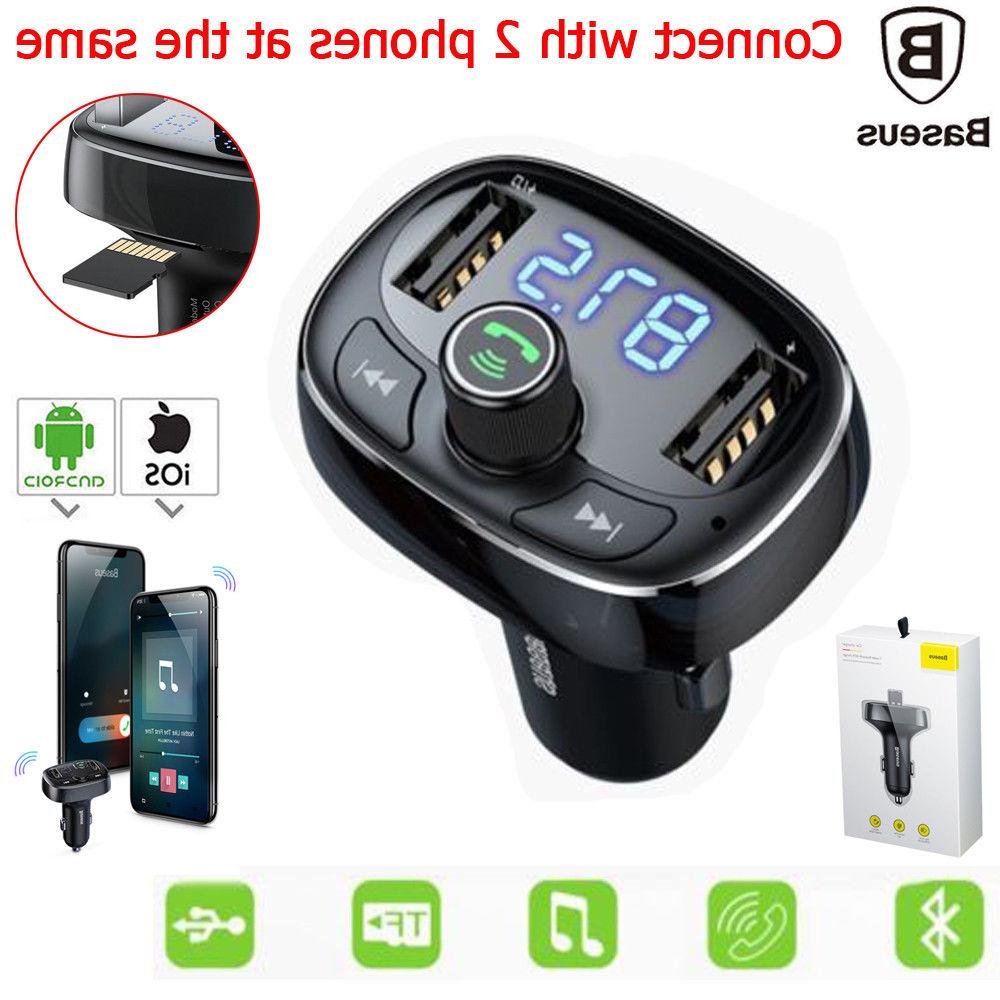 Dual USB Bluetooth MP3 Car Charger For iPhone XS Max XR 7 6s