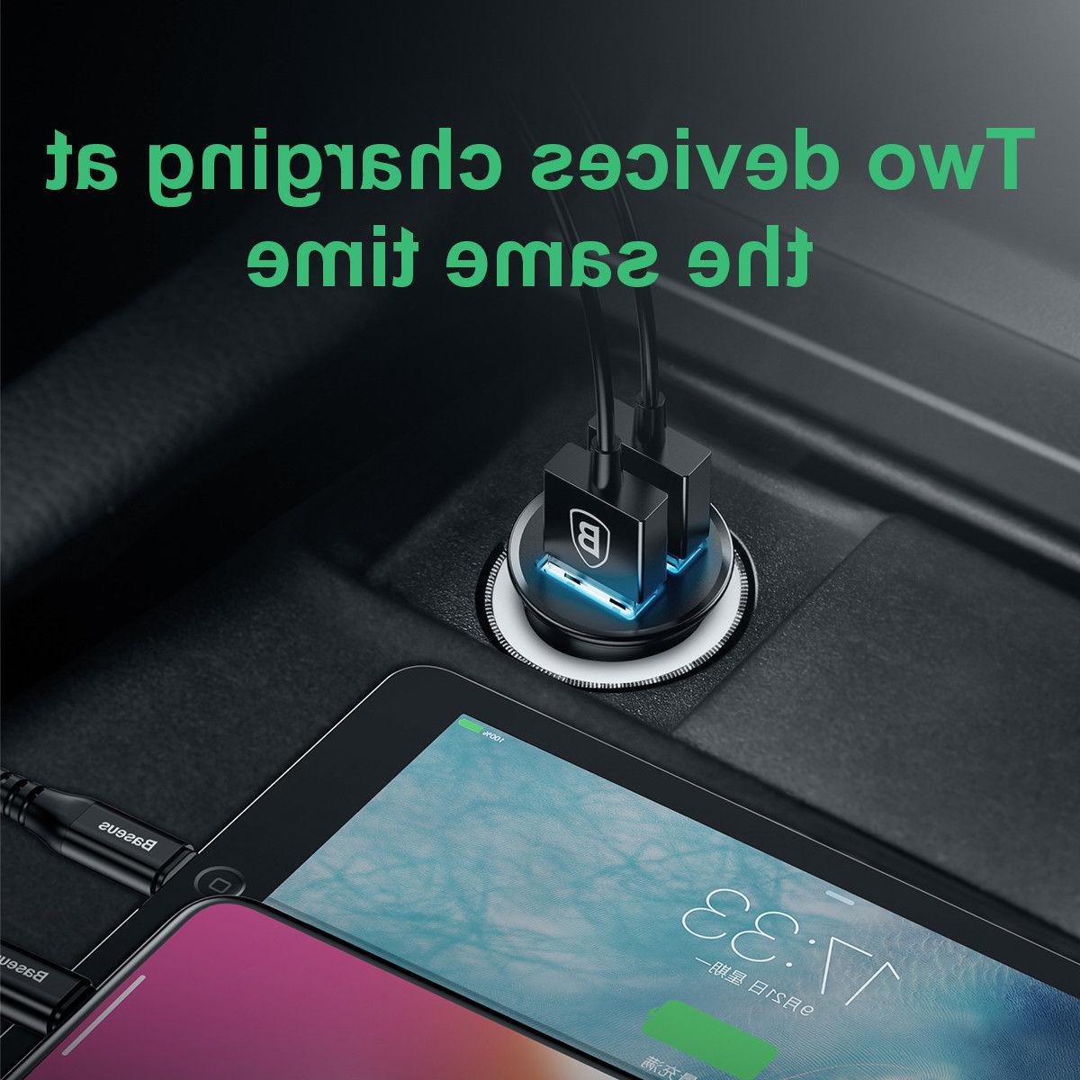 Dual Fast Car w/Qualcomm Quick Charger 3.0