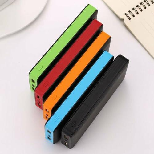 Dual Power Bank Case Charger DIY Box Case For Phone XH