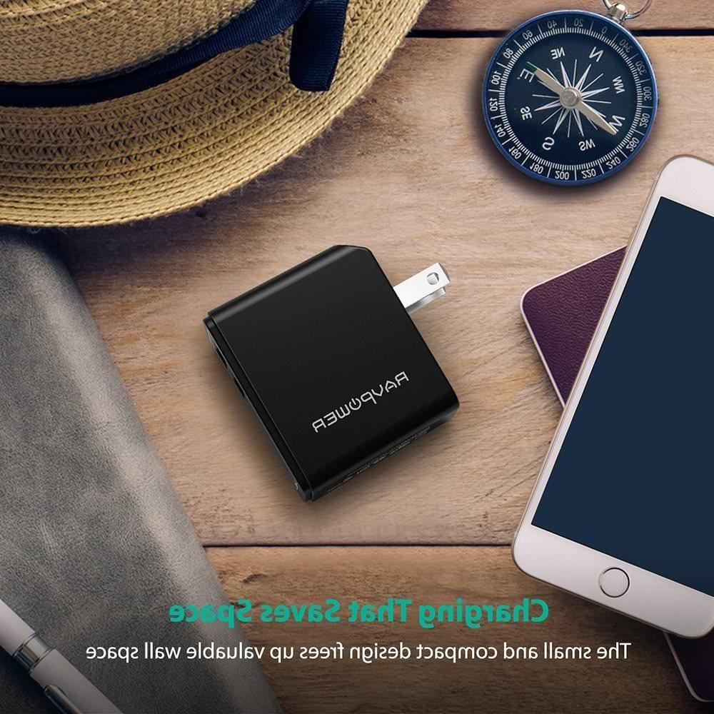 RAVPower Dual Charger 4.8A Foldable iSmart