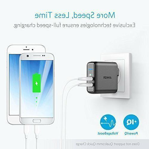 Anker Dual Port 24W Travel Charger 2 PowerIQ