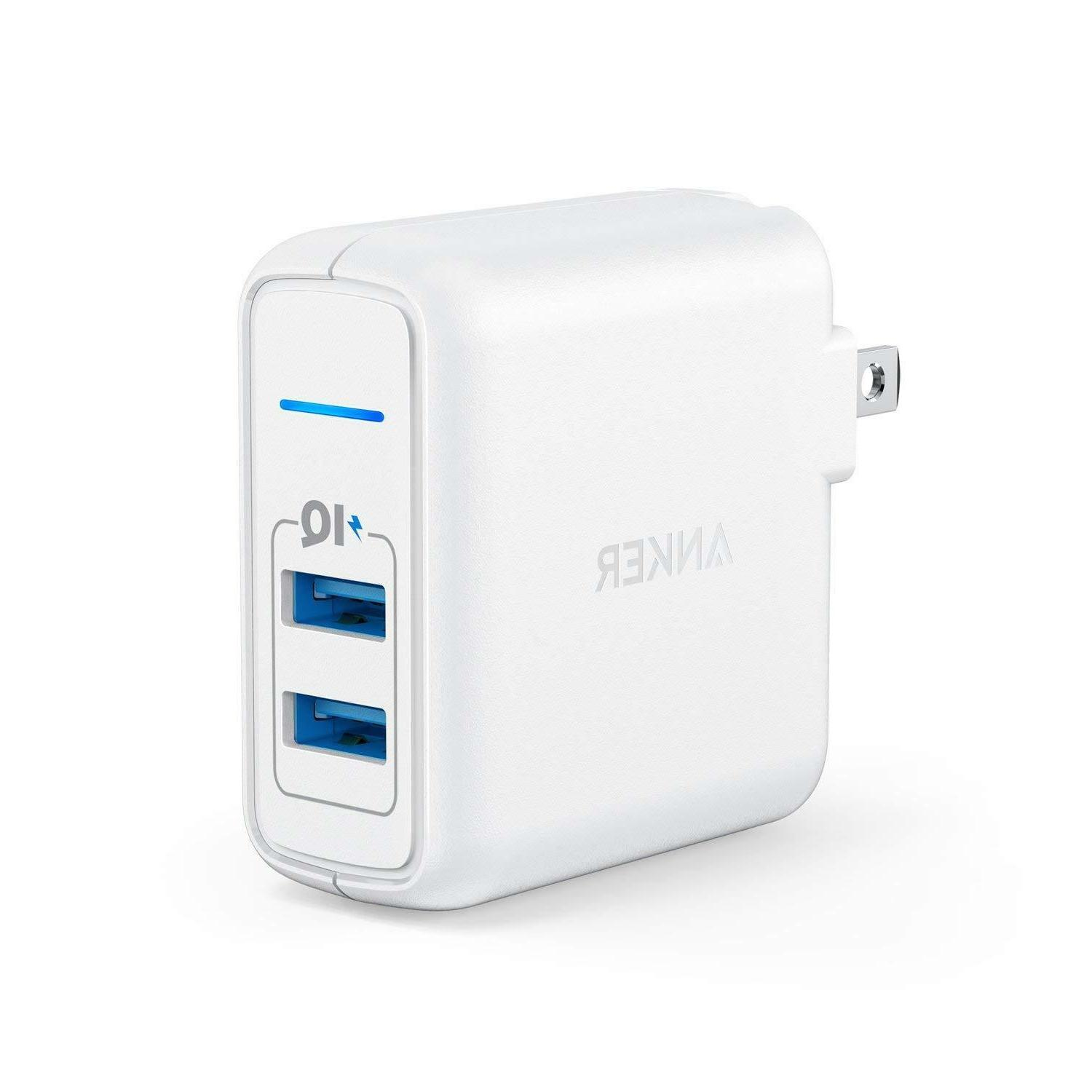 Anker Elite USB Charger PowerPort 2 Dual Port 24W Wall Charg
