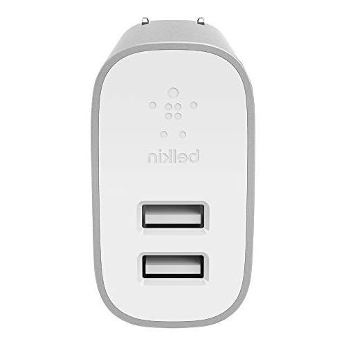 Belkin Home Charger to USB Cable – 24W USB Silver
