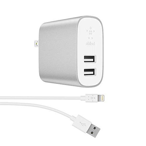 Home Charger to USB 24W USB Charger, Silver