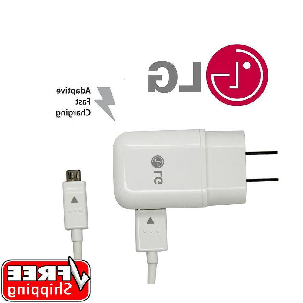 LG Fast Charger Wall Adapter & Micro USB Cable V10 G3 G4 Sty