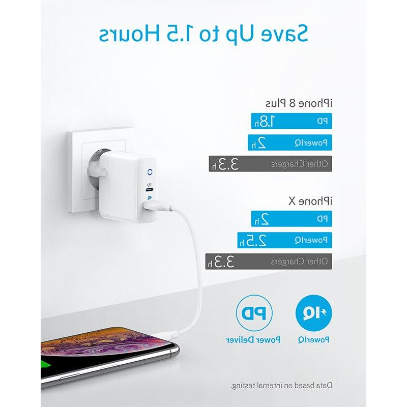 <font><b>Anker</b></font> 2-Port Type <font><b>Charger</b></font> with 18W Power and 2, iPhone,iPad etc