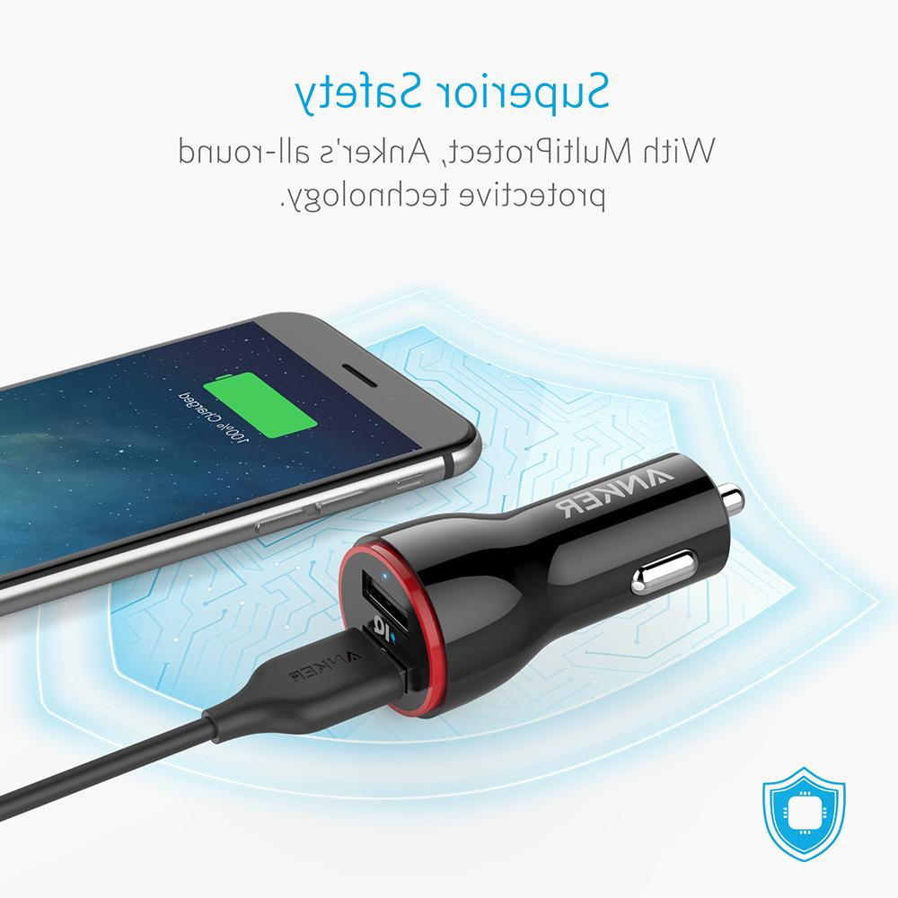 <font><b>Anker</b></font> Dual <font><b>USB</b></font> Car for Samsung Google iOS Android