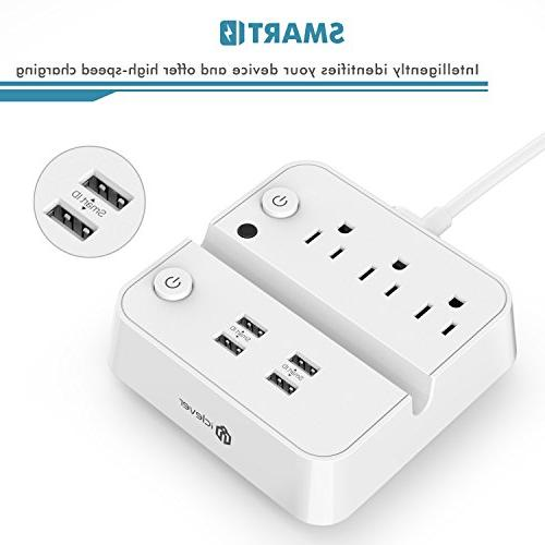 USB Charger 4 USB OutLets, Charging Station / White