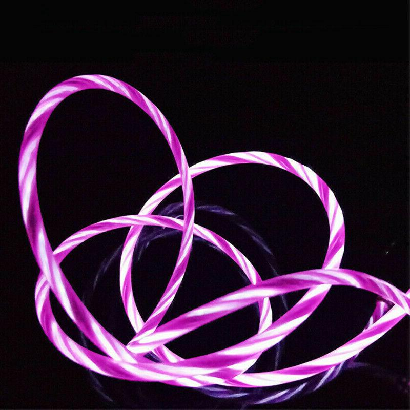 LED Glow USB Charger Cable iPhone Max XR X 7 Plus