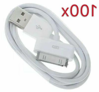 lot 100 white usb data sync charger