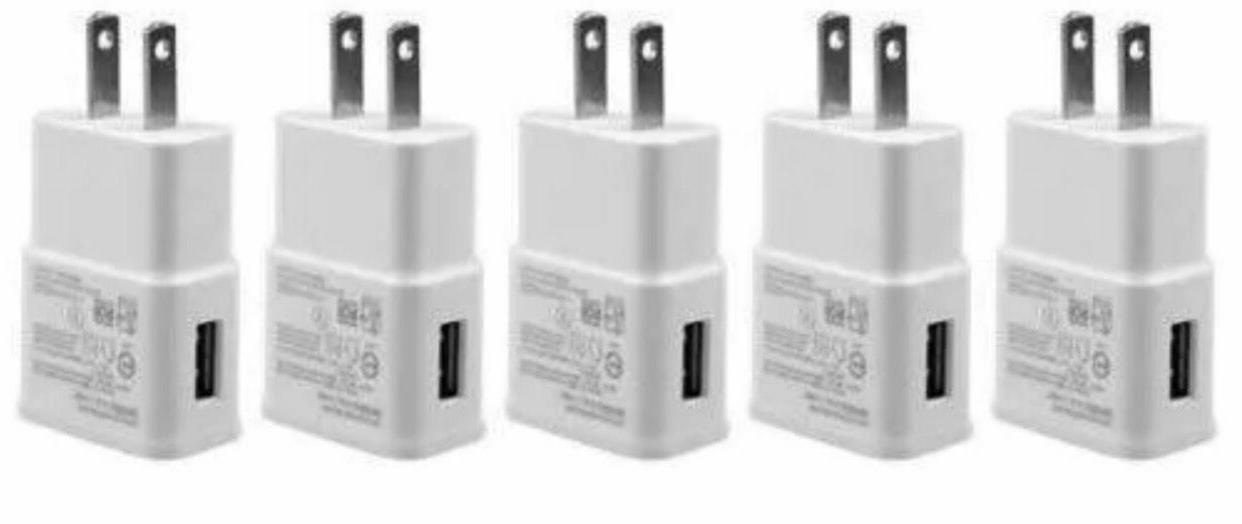 5X - 2AMP USB POWER ADAPTER WALL CHARGER For SAMSUNG GALAXY