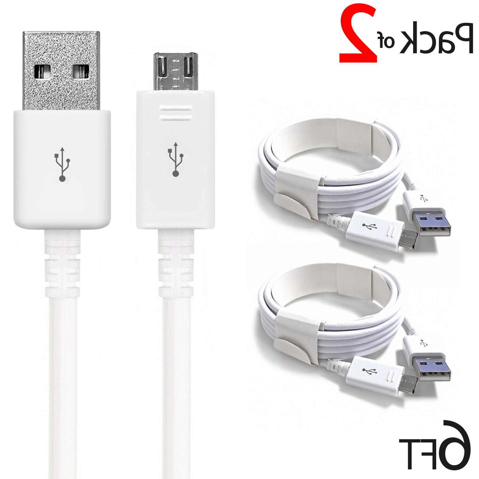 PACK OF 2 MICRO USB CHARGER FAST CHARGING CABLE FOR SAMSUNG